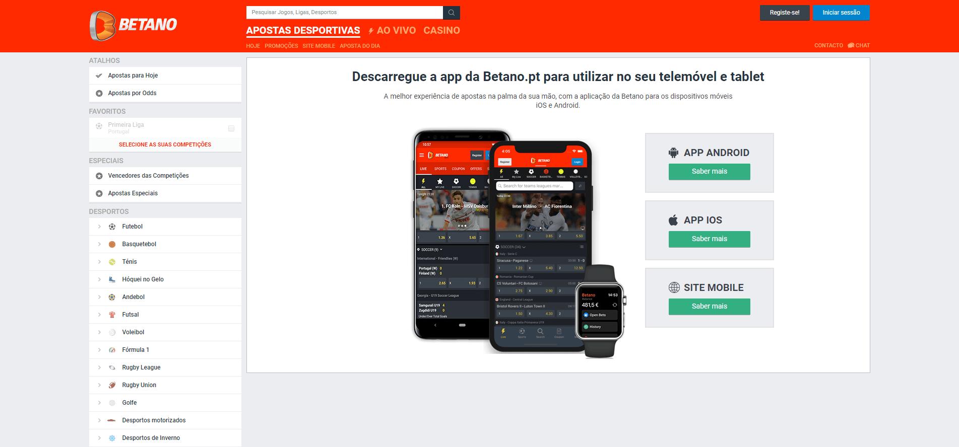 descarrega a app da Betano