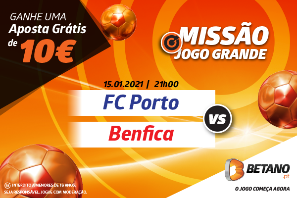 Aposta Grátis Porto x Benfica