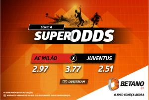 SuperOdds a dobrar AC Milão x Juventus