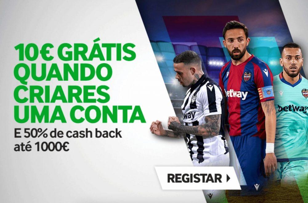 promoção 10€ grátis betway